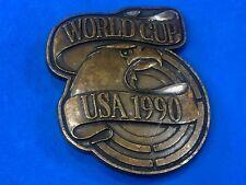 vintage world cup Usa 1990 round figural belt buckle - America celebration