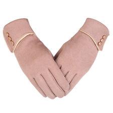 Women Elegant Winter Warm Fleece Lined Thermal Mittens Touch Screen Gloves Gift