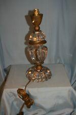 pied de lampe design années 50 en verre et laiton