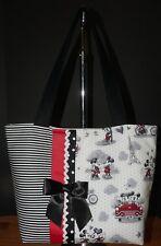 NEW Handmade Disney Mickey & Minnie Mouse Mickey Love Large Purse Bag Tote