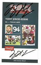 Tony Jerod-Eddie 2012 SENIOR BOWL ROOKIE CARD RC Auto Texas A&M Signed 49'ers