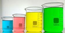 BEAKERS, Borosilicate Glass Graduated Laboratory Low Form Beakers, 11 sizes