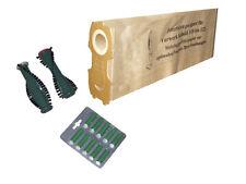 set filtre Sac d'aspirateur brosses rondes Adapté pour Vorwerk Rondelle 120 121