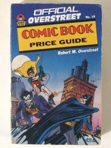 Vintage OVERSTREET Comic Book Price Guide #19 (1989)! Batman 50th Anniversary!