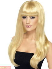 Smiffys Babelicious Wig Blonde Long Straight With Fringe