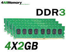 8GB Kit [4x2GB] DDR3-1066 PC3-8500 Non-ECC 204 Pin 1.5V CL=7 RAM Memory