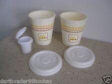 FISHER PRICE FOOD McDONALDS SODA FOUNTAIN ● PLASTIC COFFEE CUPS + LIDS + CREAM