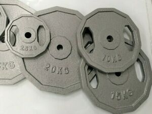 NEW 105KG OF STANDARD 29MM HOLE GREY IRON HAMMERTONE WEIGHT PLATES