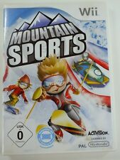 Nintendo Wii Game Mountain Sports, USED BUT GOOD