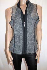 Millers Brand Grey Marble Casual Zip Thru Wool Vest Size 12 BNWT #TN40