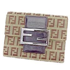 Auth Fendi Triplicate Wallet Zucchino Women''s Men''s Yes used J19675
