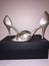WomensGiuseppe Zanotti Silver Leather wedding Colour Gems High Heel Size 39