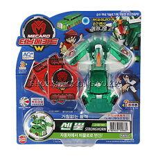TURNING MECARD W STRONGHORN GREEN Transformer CAR ROBOT Action Figure/Korean Toy