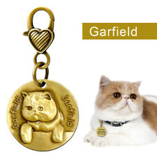 Custom Engraved Pet ID Tag Stainess Steel 3D Personalized Memorial Cat ID Tag