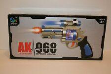 AK968 Luz Intermitente Led Niños Y Sonido Efecto Pistola De Juguete Arma Chico del espacio