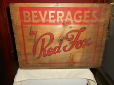 RED FOX BEVERAGES Ginger Ale Co. Providence RI Dovetail Wood Advertising Crate