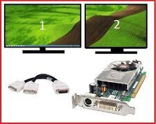 HP Elite 8200 8100 8000 SFF Low-Profile Dual DVI Monitors Video Card PCI-e x16