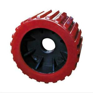 """Boat Trailer Wobble Rollers X16 Pack. 3"""" Red Ribbed Poly Wobble Roller"""