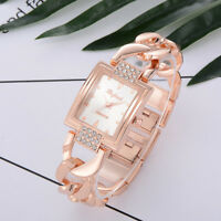 Luxury Women Crystal Stainless Steel Watch Ladies Quartz Bracelet Wrist Watches