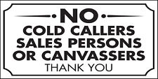 Stop Cold Calling Sales Door Religious Groups No Canvassers Callers Metal Sign
