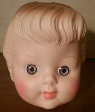 "New ListingVintage Doll Head~ Molded Hair Bun~ Ponytail Girl~ 5""~ for Doll Making/Repair"