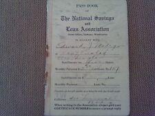 RARE 1920 NATIONAL SAVINGS & LOAN BANK PASS BOOK BOOKLET SPOKANE WASHINGTON WA