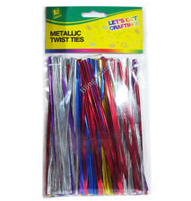 METALIC TWIST TIES ART & CRAFT PROJECTS 16cm LONG BUMPER PACK OF ASSORTED COLOUR