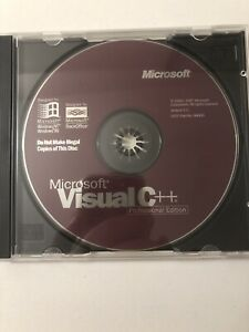 Microsoft Visual C++ Version 5.0 Professional With Key