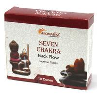 10 cônes d'encens pour fontaine aromatika parfum des 7 chakras