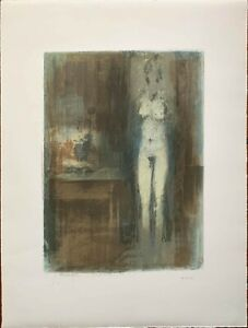 GIUSEPPE AJMONE litografia TOELETTA  61x46 anno 1972 firmata numerata