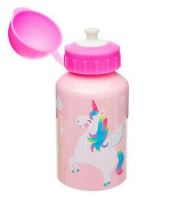 Kids Childs Break Lunch Nursery School Cold Drinks Bottle & Straw Various Sizes