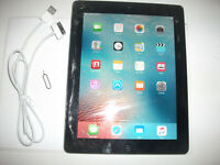 Apple iPad 2 16GB, Wi-Fi + Cellular (Unlocked), 9.7in - Black***CRACKED GLASS***