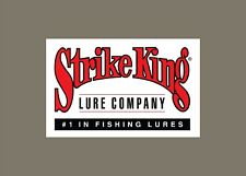 Strike King decals stickers bass boat tournament sponsor fishing baits lures