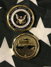 """USN """"Stood The Watch"""" NAVY RETIRED Challenge Coin Engravable US Navy"""
