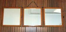 Antique 1800's Tri-Fold Traveling Mirror, 3 Panel, Civil War / Wagon Train Era