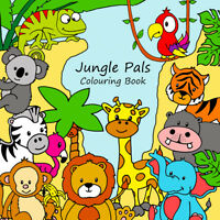Childrens Colouring Books - Jungle Pals - Kids Safari Animals - For Boys & Girls