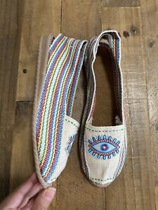 Multicolors Evil Eye slip on shoes Sandals Shoes New Condition handmade