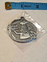 Vtg Chef People serving People Metal Keychain Waitress Waiter ~ NEW ~ Ships FREE