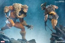 sideshow exclusive wolverine And Sabertooth Premium format Statues With Custom H