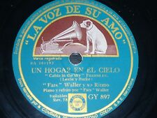 JAZZ 78 rpm RECORD VsA FATS WALLER & Ritmo RICITOS INFANTILES / UN HOGAR EN...