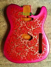 1969 Paisley Tel   Classic Pink Paisley  NOS BODY ORDER YOURs WoW!   JVGuitars
