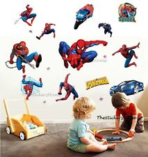 Large SPIDERMAN Wall Stickers Boys Kids Children Room Decor Art Decal Removable