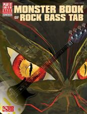 Monster Book of Rock Bass Tab Sheet Music Bass Book NEW 002501476