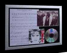 U2 Sunday Bloody LTD MUSIC CD GALLERY QUALITY FRAMED DISPLAY+EXPRESS GLOBAL SHIP