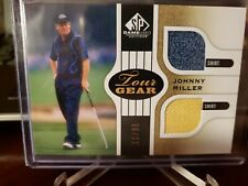 2012 SP Game Used Edition Tour Gear Gold Shirts #11/35 Johnny Miller #TGJM