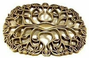 New Tree Belt Buckle Leaves Autumn Fall Women's Gold Boho Floral Flower Country