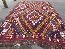 Kilim Old Traditional Hand Made Afghan Oriental Large Kilim Red Wool 435x287cm