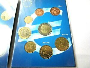 8 PIECES DE 1CT A 2 EURO / MONACO  2001 ISSU DU STARTER KIT