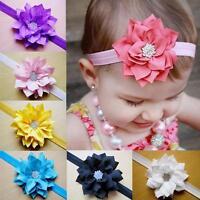 10Pcs/set Chiffon Flower Hair Band Headband Elastic for Baby Girl Infant Toddler