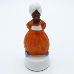 Antique Porcelain Germany Man in Turban Tape Measure